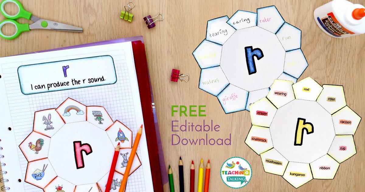 Speech therapy Lesson Plan Template Fresh Free Articulation Activity for R Notebook Template