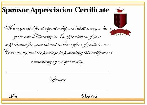 Sponsorship Plaque Wording Best Of 12 Elegant Certificates Of Appreciation for Sponsorship
