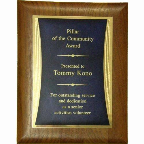 "Sponsorship Plaque Wording Best Of Appreciation Plaque Award 7""x9"""