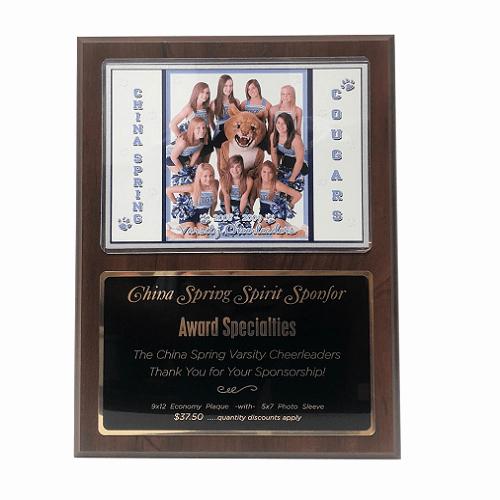 Sponsorship Plaque Wording Elegant Plaque Award Specialties Inc