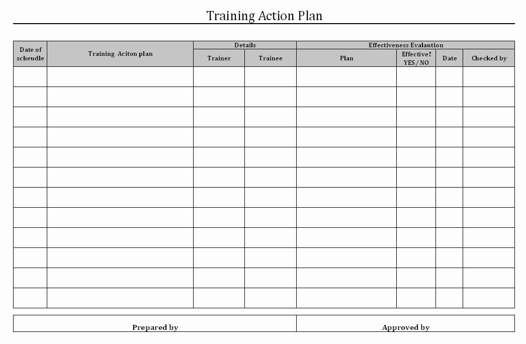 Staff Training Plan Template Elegant Employee Training Plan Template