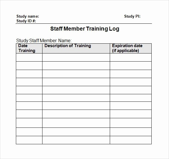 Staff Training Plan Template Fresh 30 Sample Log Template Documents In Pdf Word Excel