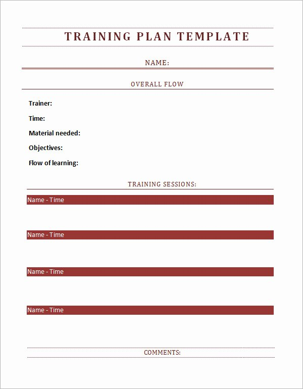 Staff Training Plan Template Inspirational Training Plan Template 16 Download Free Documents In
