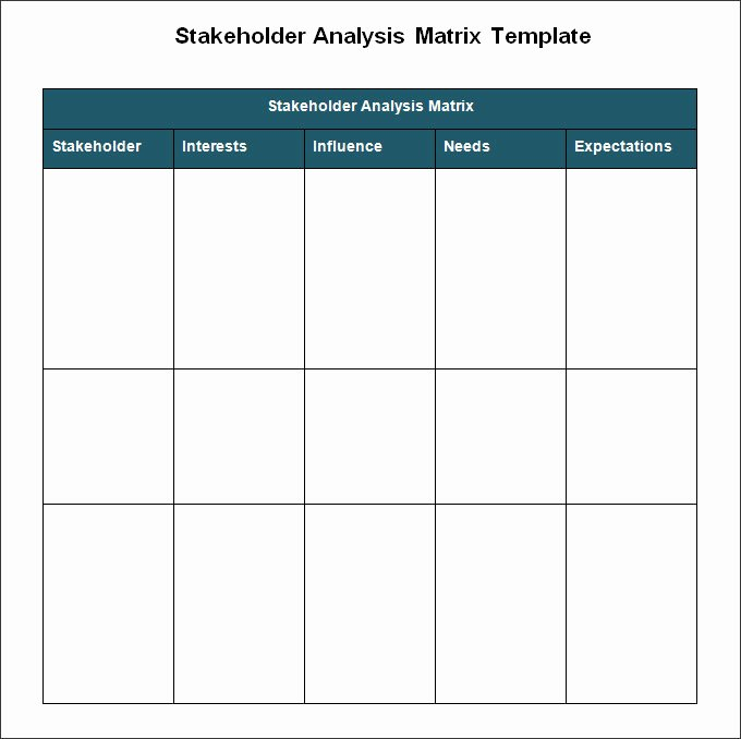 Stakeholders Management Plan Template Beautiful Stakeholder Analysis Template 8 Free Word Excel Pdf