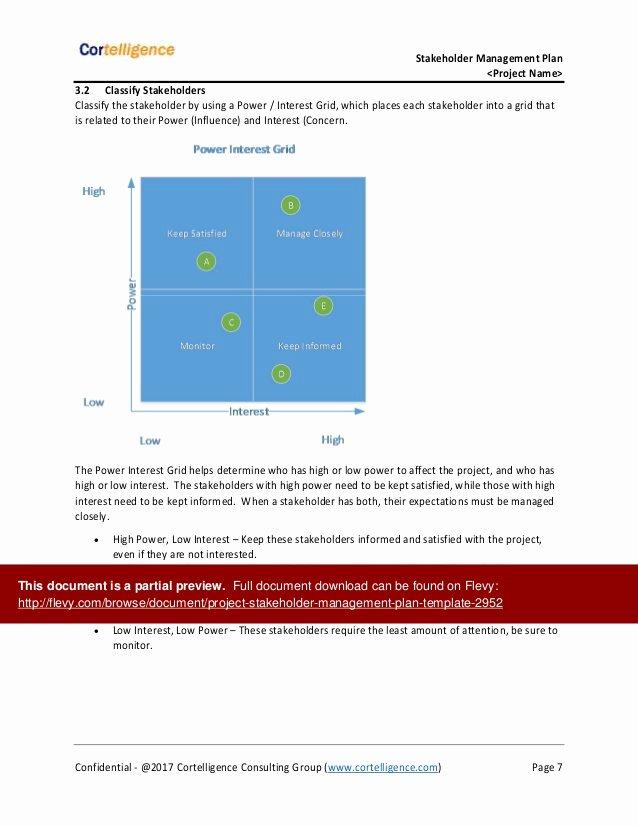 Stakeholders Management Plan Template Elegant Project Stakeholder Management Plan Template
