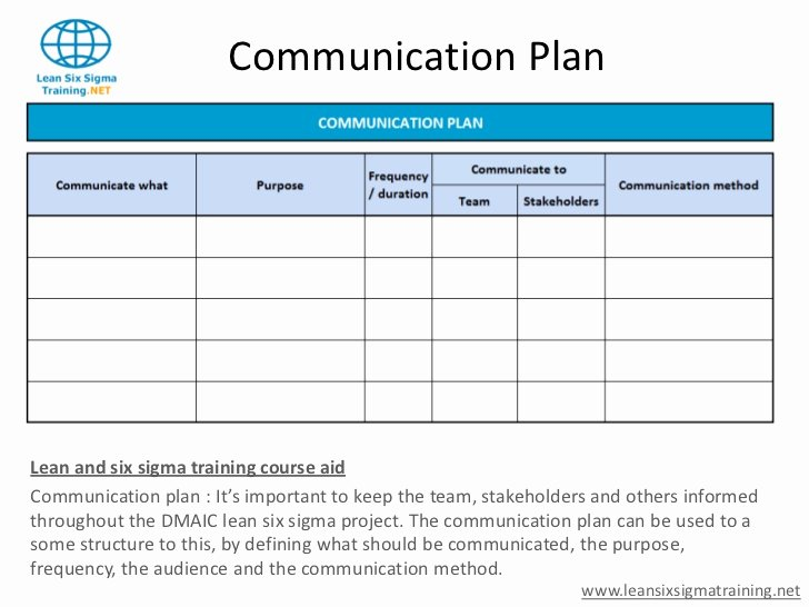 Stakeholders Management Plan Template Luxury Munication Plan