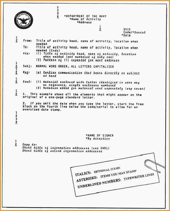 Standard Naval Letter format Best Of Naval format Letter Template – thepizzashop