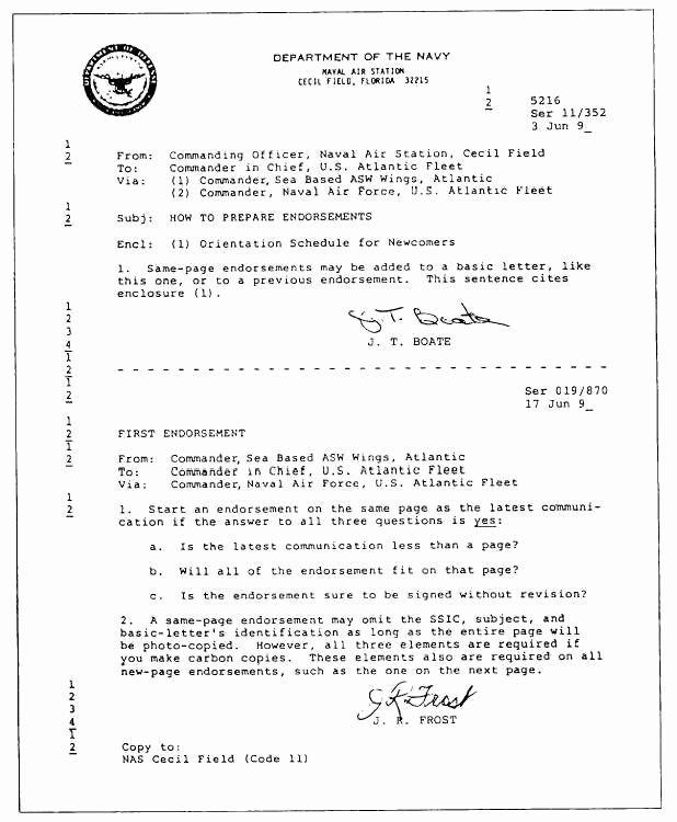 Standard Naval Letter format Template Unique Best S Of Navy Standard Letter format Standard