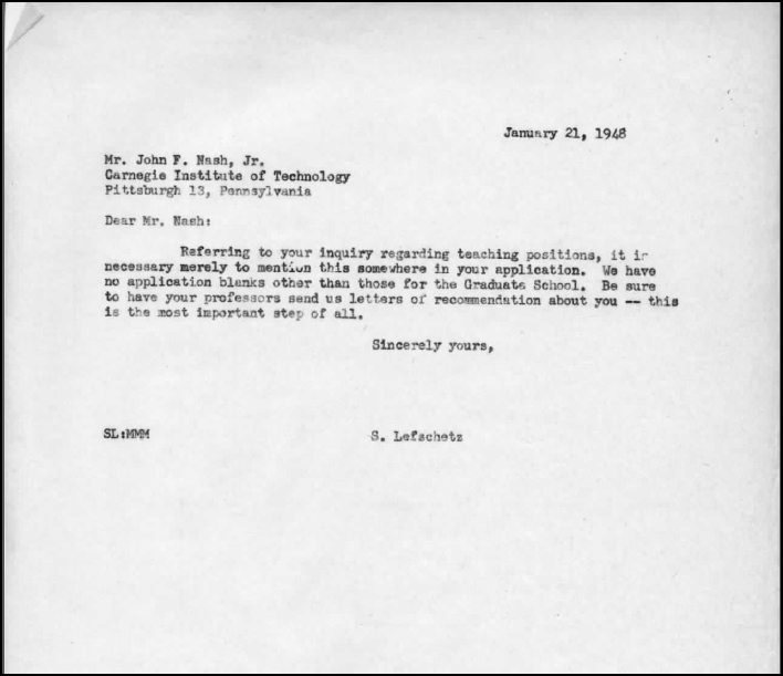 Stanford Letter Of Recommendation Inspirational Johnnash Fromprinceton Lors