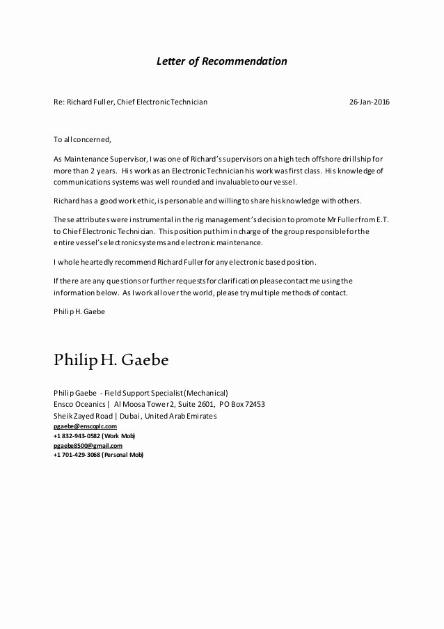 Stanford Letter Of Recommendation Luxury Letter Of Re Mendation Richard Fuller