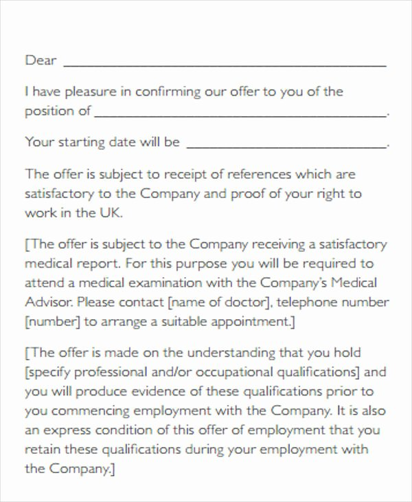 Startup Offer Letter Template Beautiful Contract Fer Letter Templates 9 Free Word Pdf format