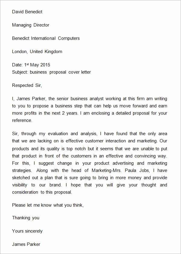 Startup Offer Letter Template Lovely Sample Business Proposal Cover Letter