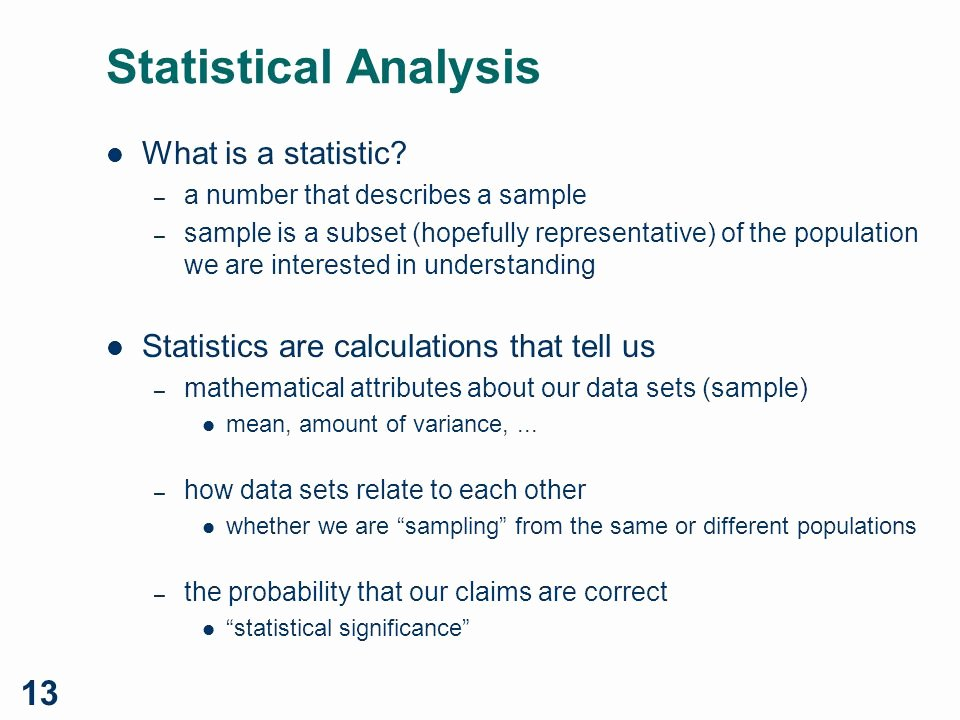Statistical Analysis Plan Template Elegant Cs 544 Experimental Design Ppt