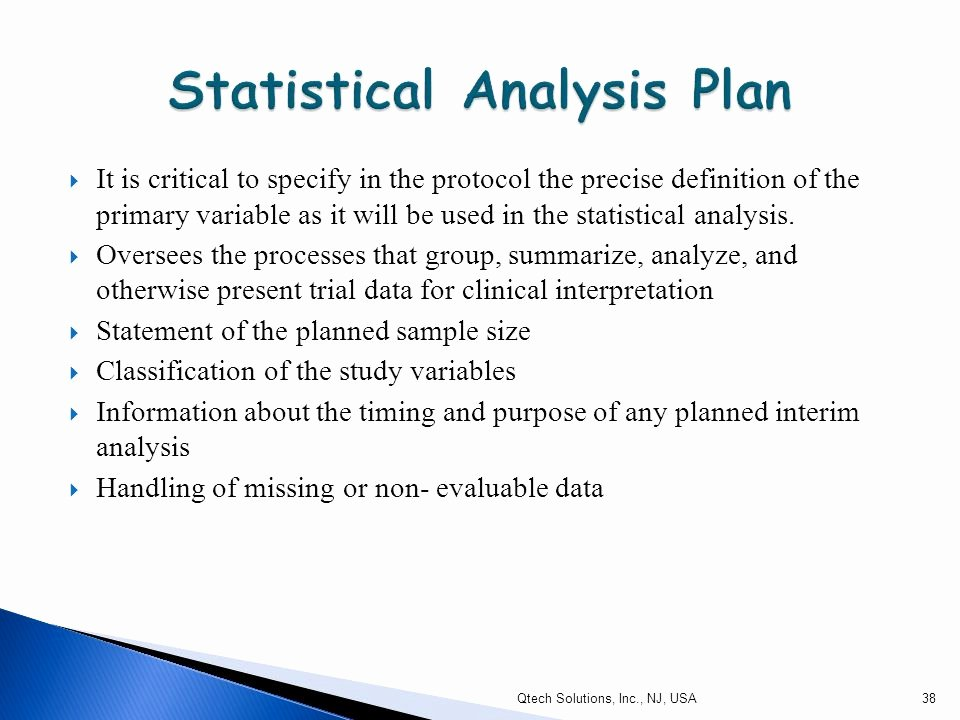 Statistical Analysis Plan Template New Introduction to Clinical Protocol Ppt Video Online