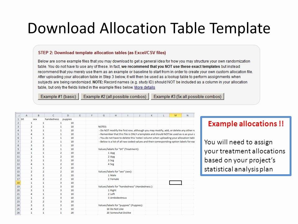 Statistical Analysis Plan Template New Redcap Treatment Randomization Module Ppt Video Online