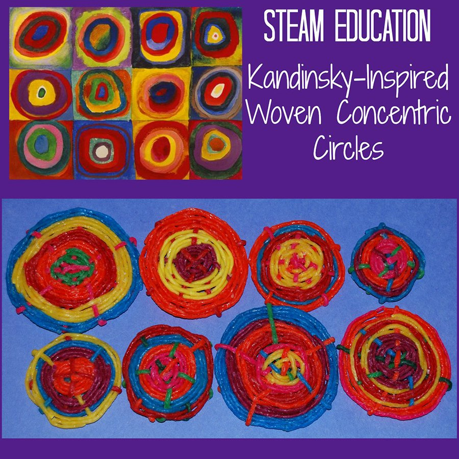 Steam Lesson Plan Template Best Of Steam Activity for Kids Kandinsky's Concentric Circles