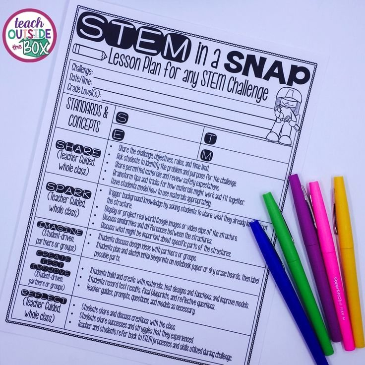 Stem Lesson Plan Template Lovely Stem In A Snap Free Lesson Plan for Any Stem or Steam