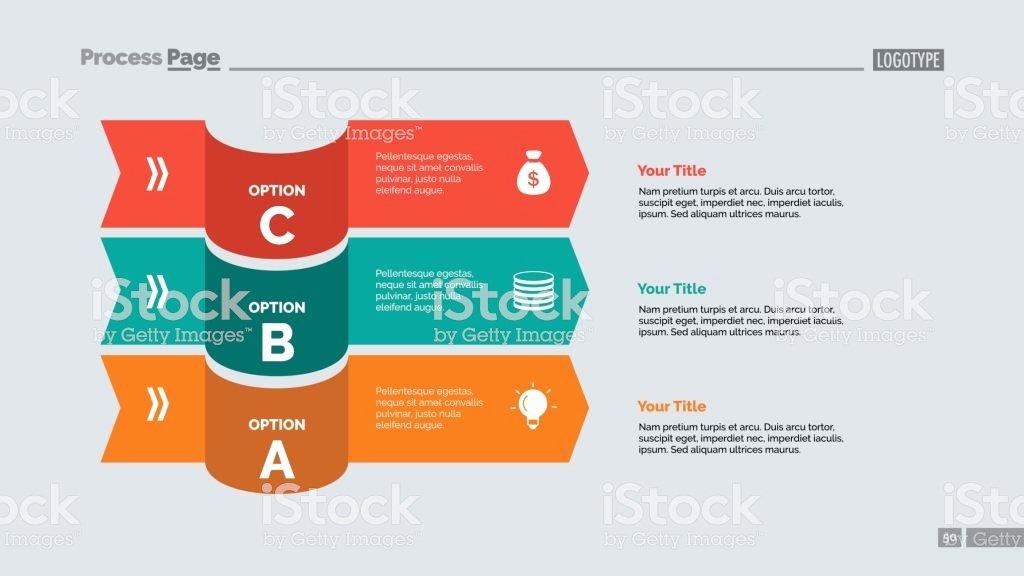 Stock Option Plan Template Best Of Three Options Plan Slide Template Stock Vector Art