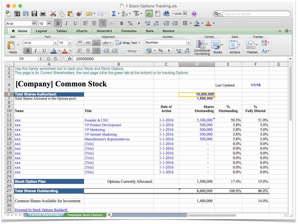 Stock Option Plan Template Elegant Stock Options software Template Jian Business Power tools