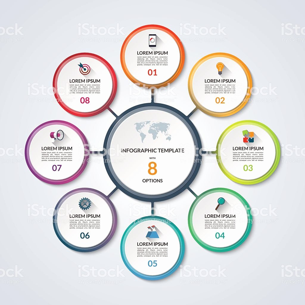 Stock Option Plan Template Fresh Infographic Circle Diagram Template with 8 Options Stock