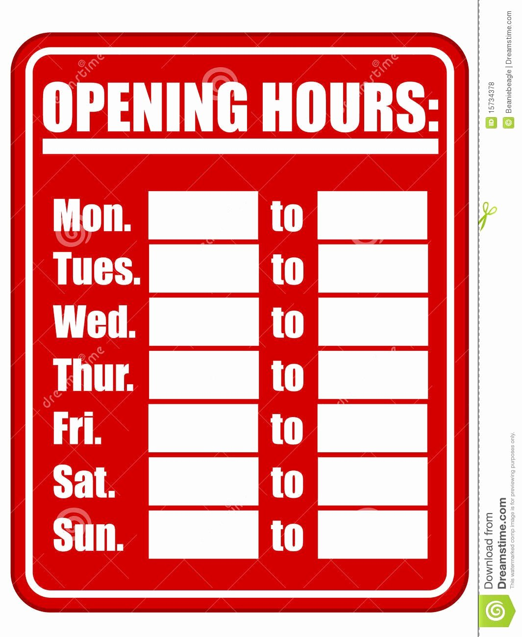 Store Hours Template Word Awesome Printable Business Hours Sign Template Tulsalutheran