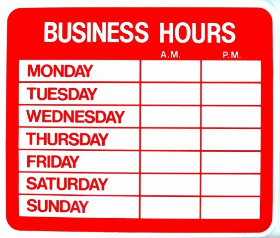 Store Hours Template Word Beautiful Work From Home Salon Hours Establishing Boundaries ask