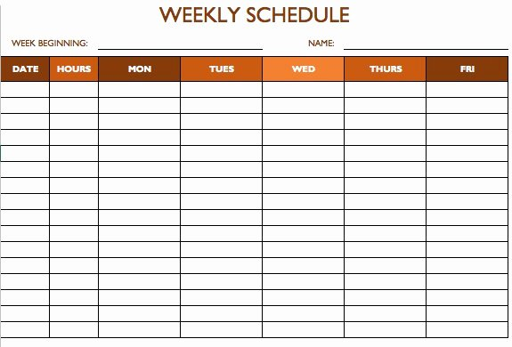 Store Hours Template Word Best Of Free Work Schedule Templates for Word and Excel