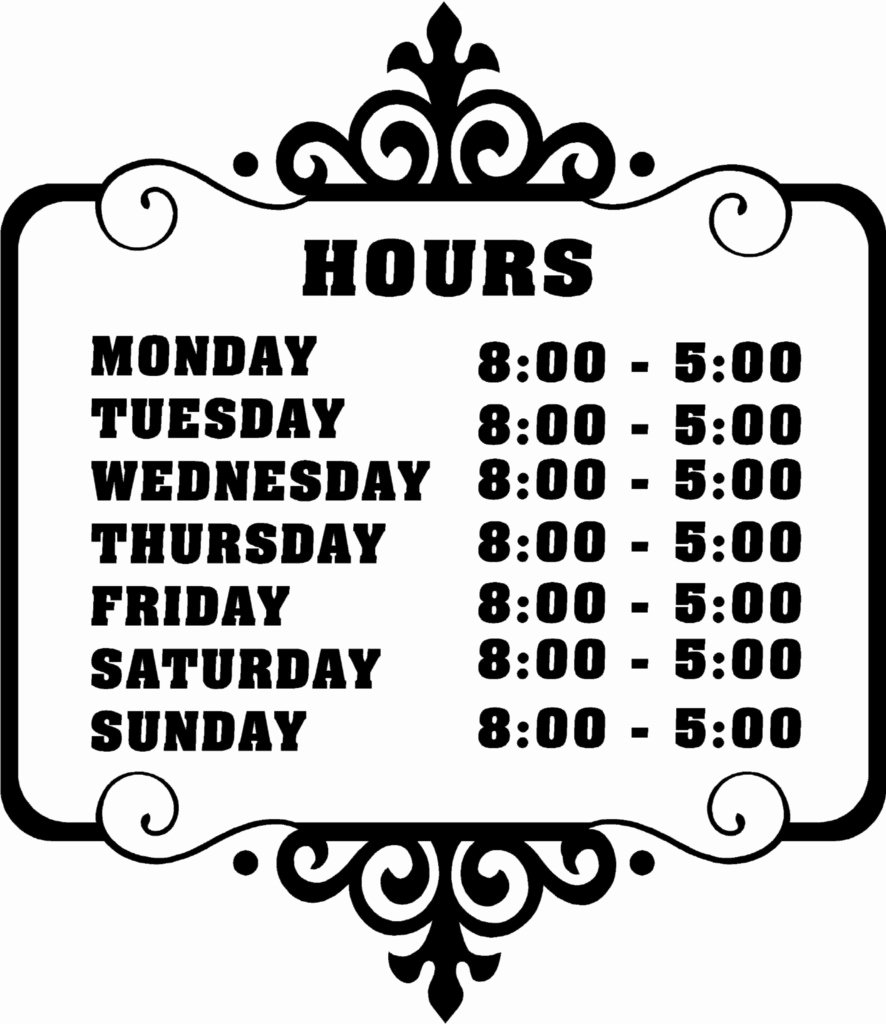 Store Hours Template Word Elegant 6 Best Of Printable Fice Hours Sign Free