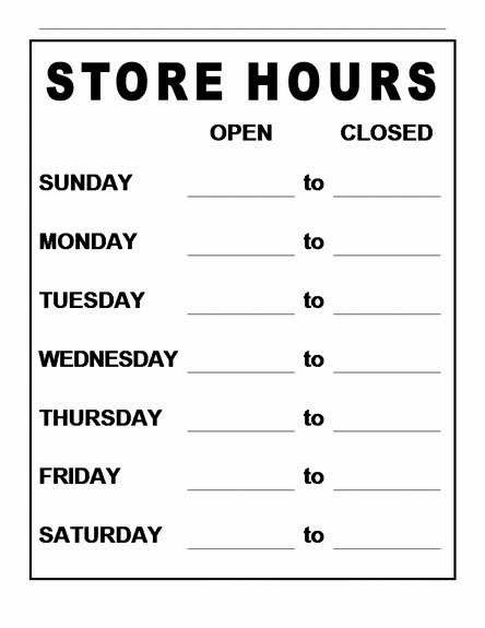 Store Hours Template Word Inspirational 5 Best Of Free Printable Word Signs Zodiac Word