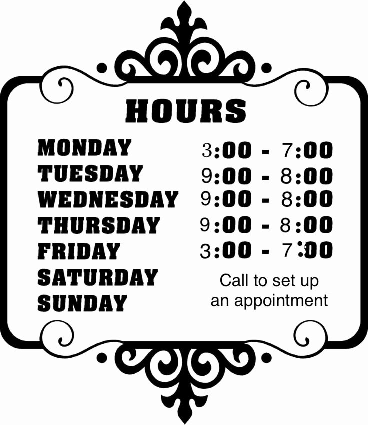 Store Hours Template Word Lovely 49 Best Melanie S Mobile Spa Services Images On Pinterest