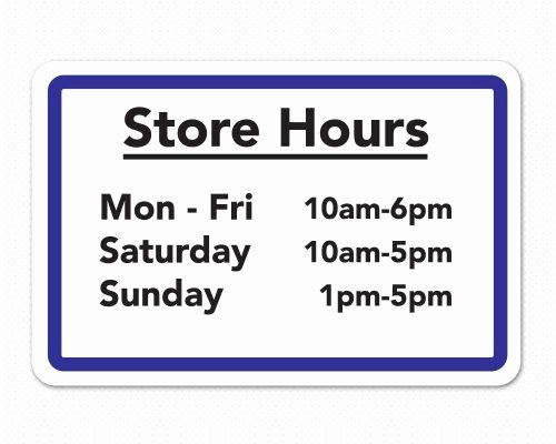 Store Hours Template Word Lovely Restaurant Signs Restaurant Window Decals