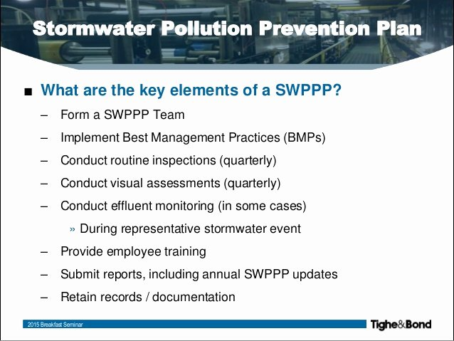 Stormwater Pollution Prevention Plan Template Awesome to Write A Swppp
