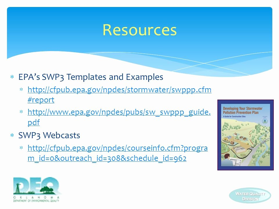 Stormwater Pollution Prevention Plan Template Luxury Stormwater Pollution Prevention Plan Swp3 Requirements