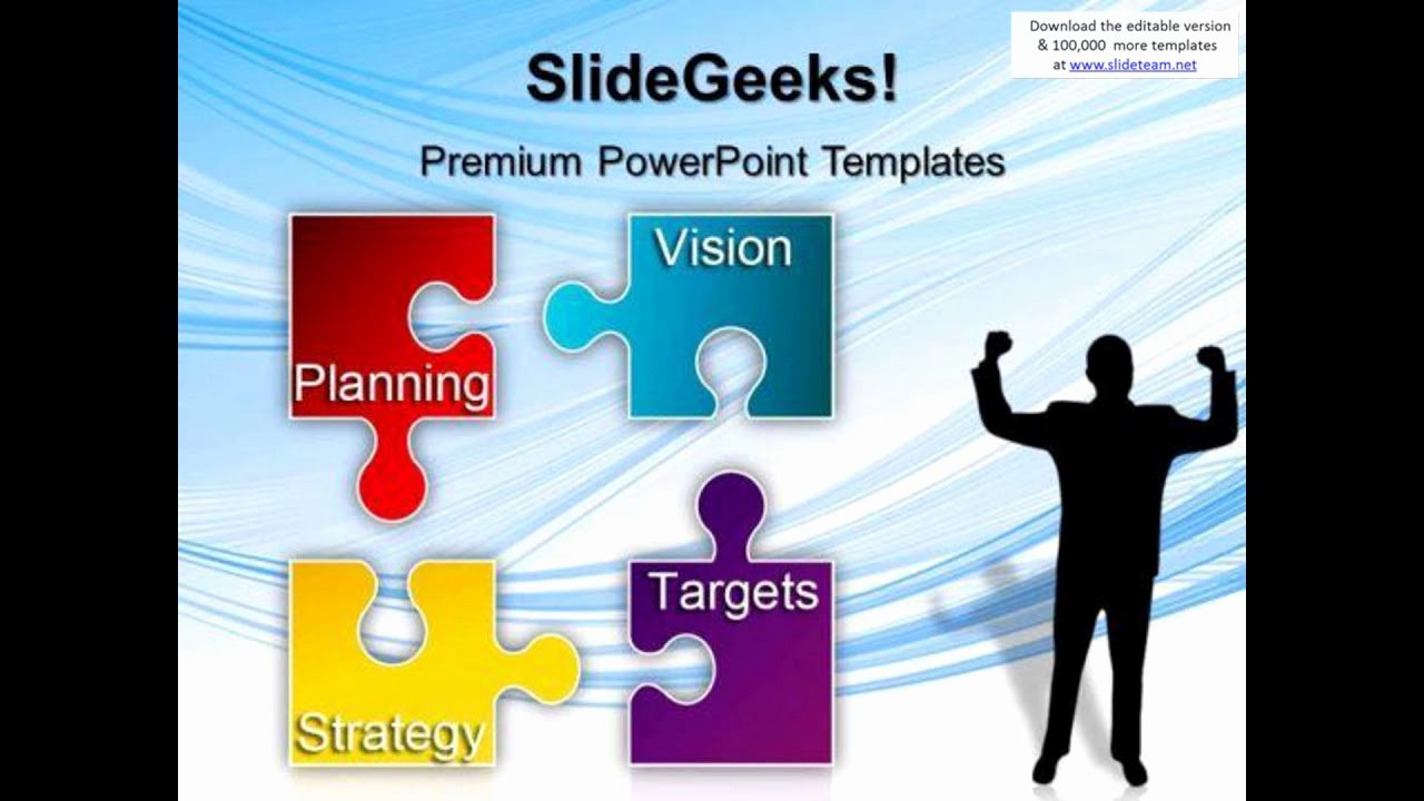 Strat Plan Powerpoint Template Awesome Puzzle Strategy Planning Business Powerpoint Templates and