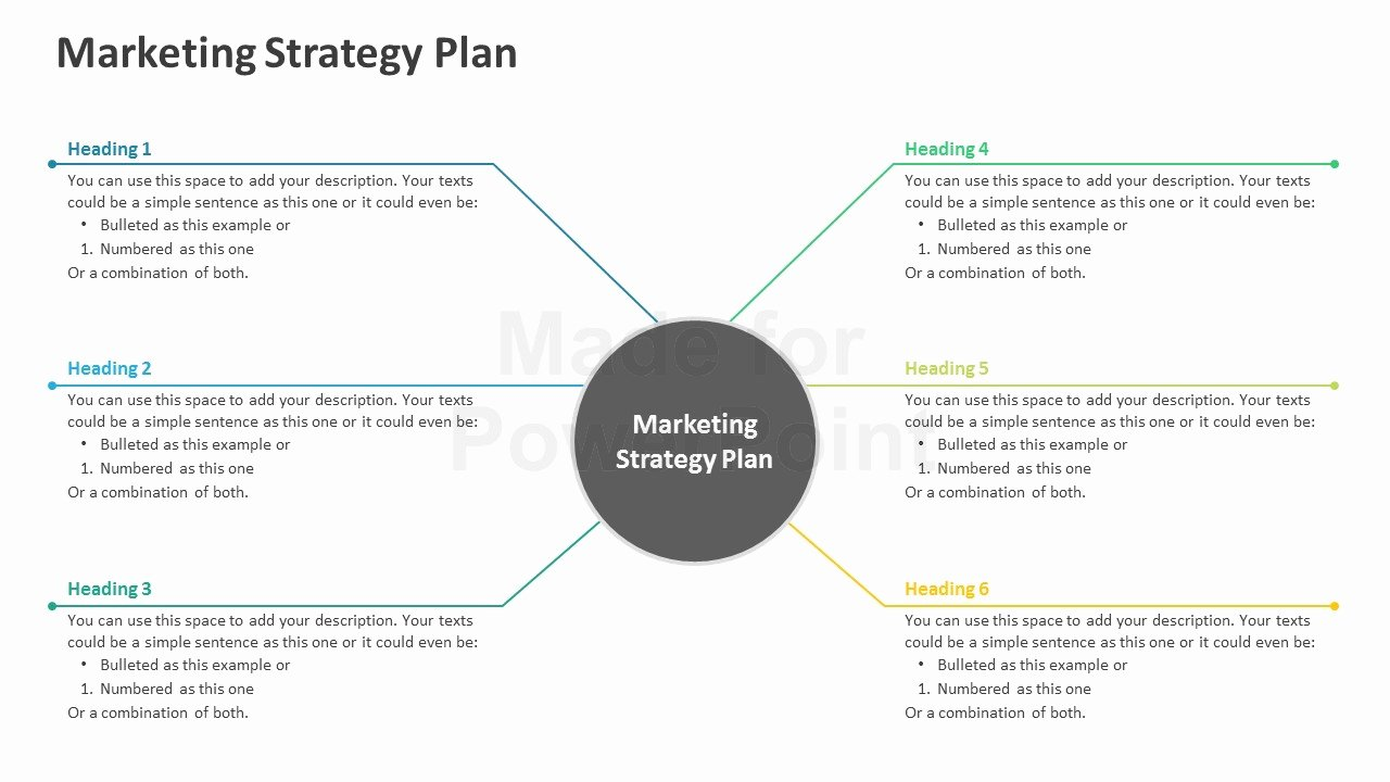 Strat Plan Powerpoint Template Fresh Marketing Strategy Plan Editable Powerpoint Template