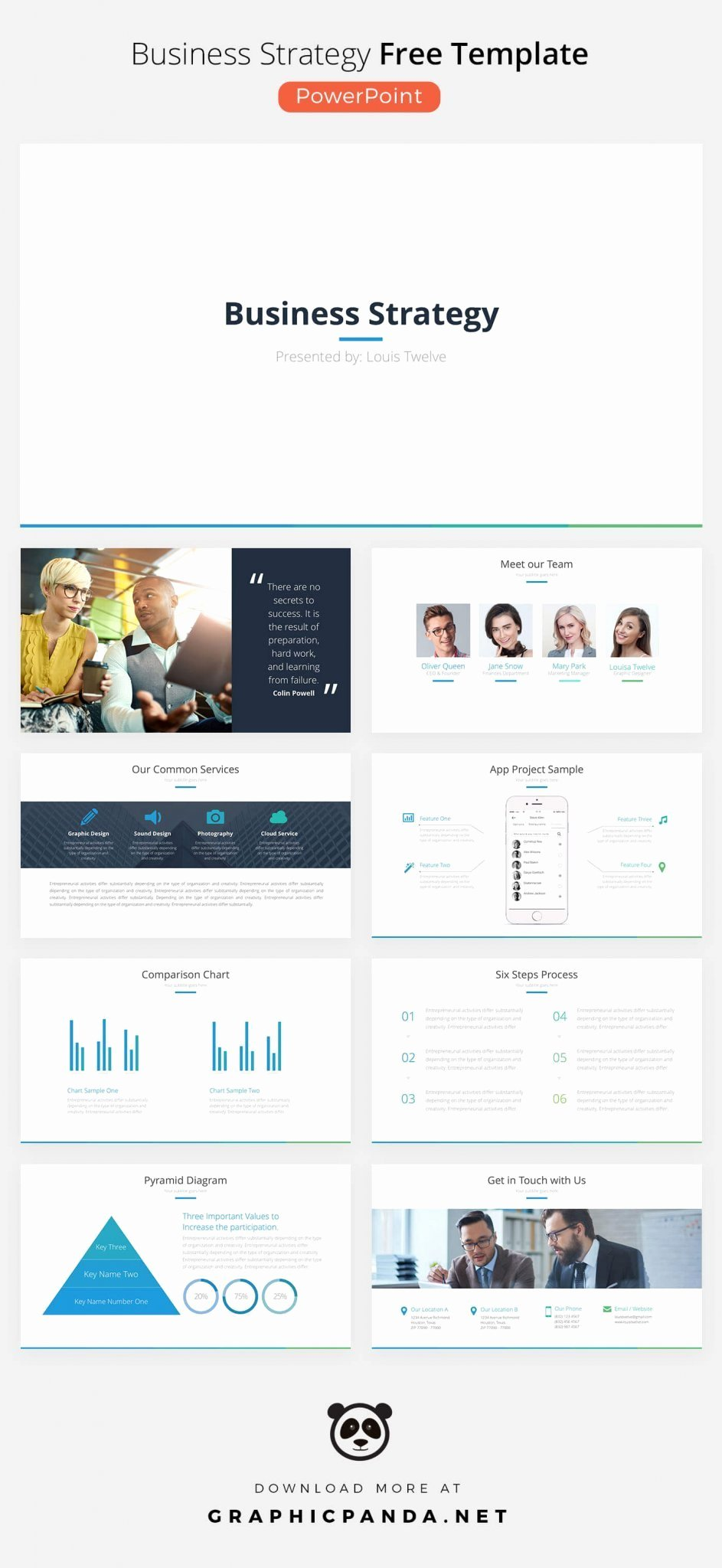 Strat Plan Powerpoint Template Unique Business Strategy Free Powerpoint Template Ppt Pptx