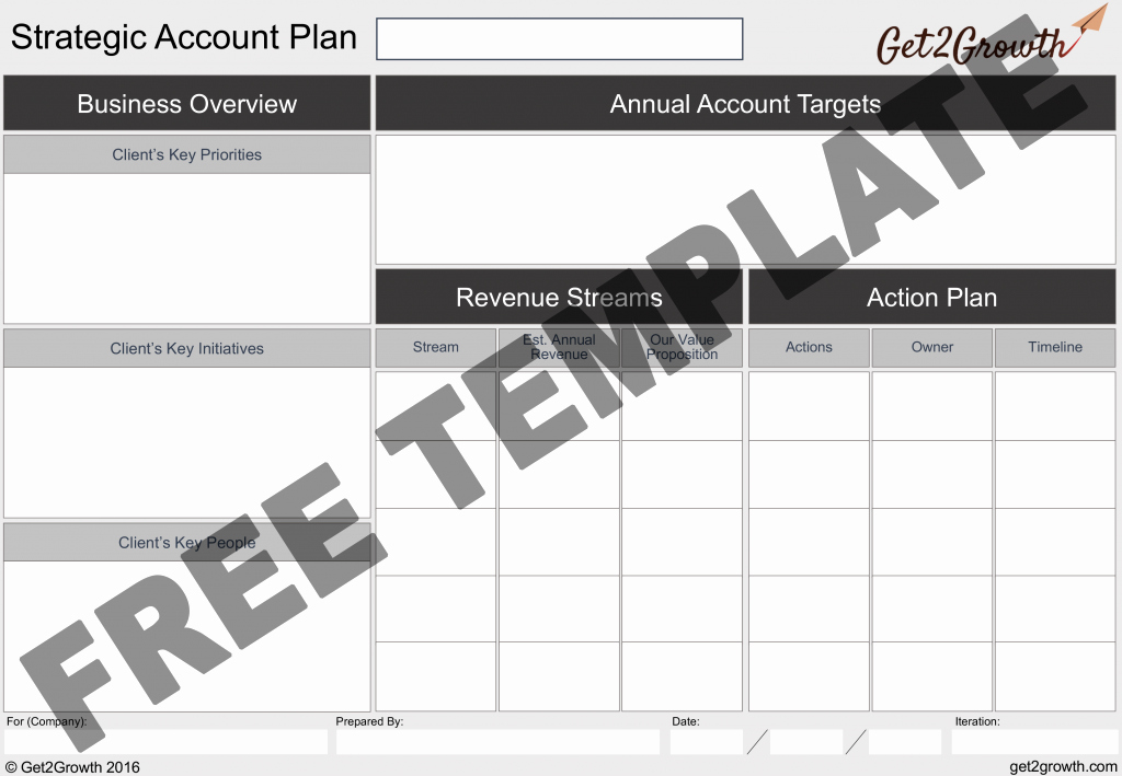 Strategic Account Plan Template Beautiful the E Page Account Plan Template