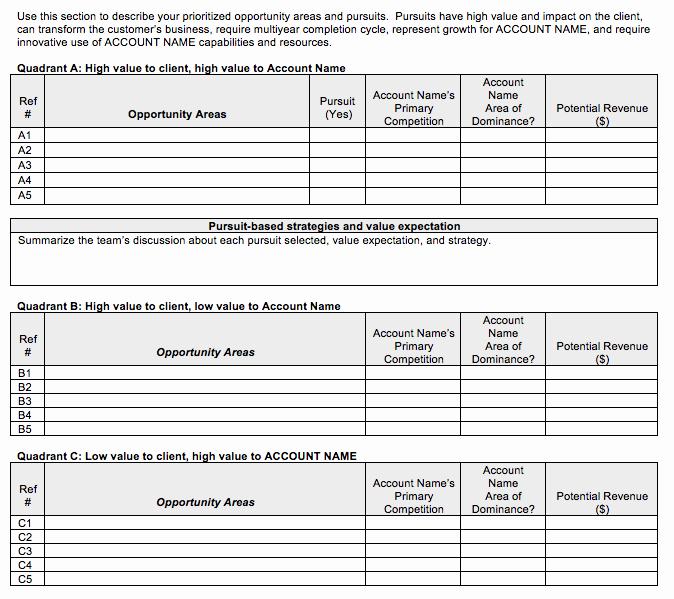 Strategic Account Plan Template Elegant Go to Market Strategy Strategic Account Plan Template