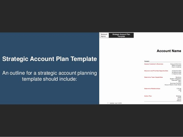 Strategic Account Plan Template Inspirational Go to Market Strategy Strategic Account Plan Template