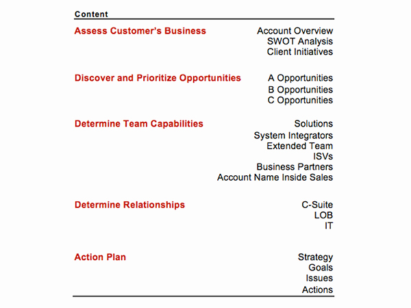 Strategic Account Plan Template New Strategic Account Plan Template