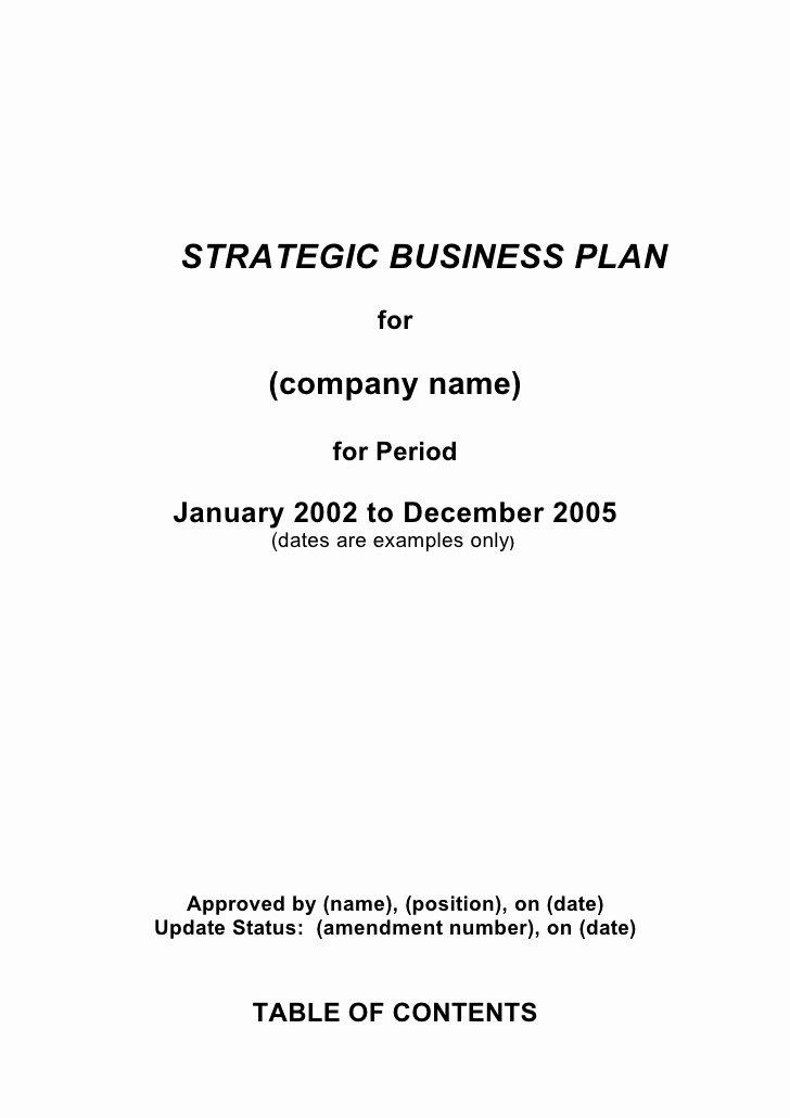 Strategic Business Plan Template Luxury 5 Prehensive Strategic Business Plan Template