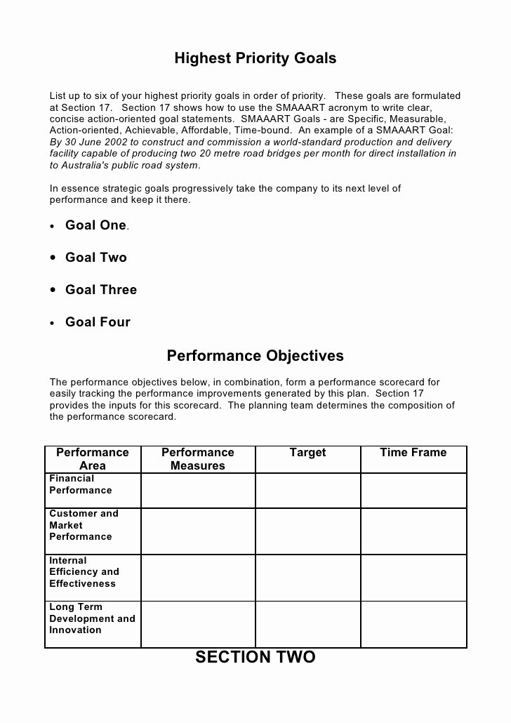 Strategic Business Plan Template Unique 5 Prehensive Strategic Business Plan Template