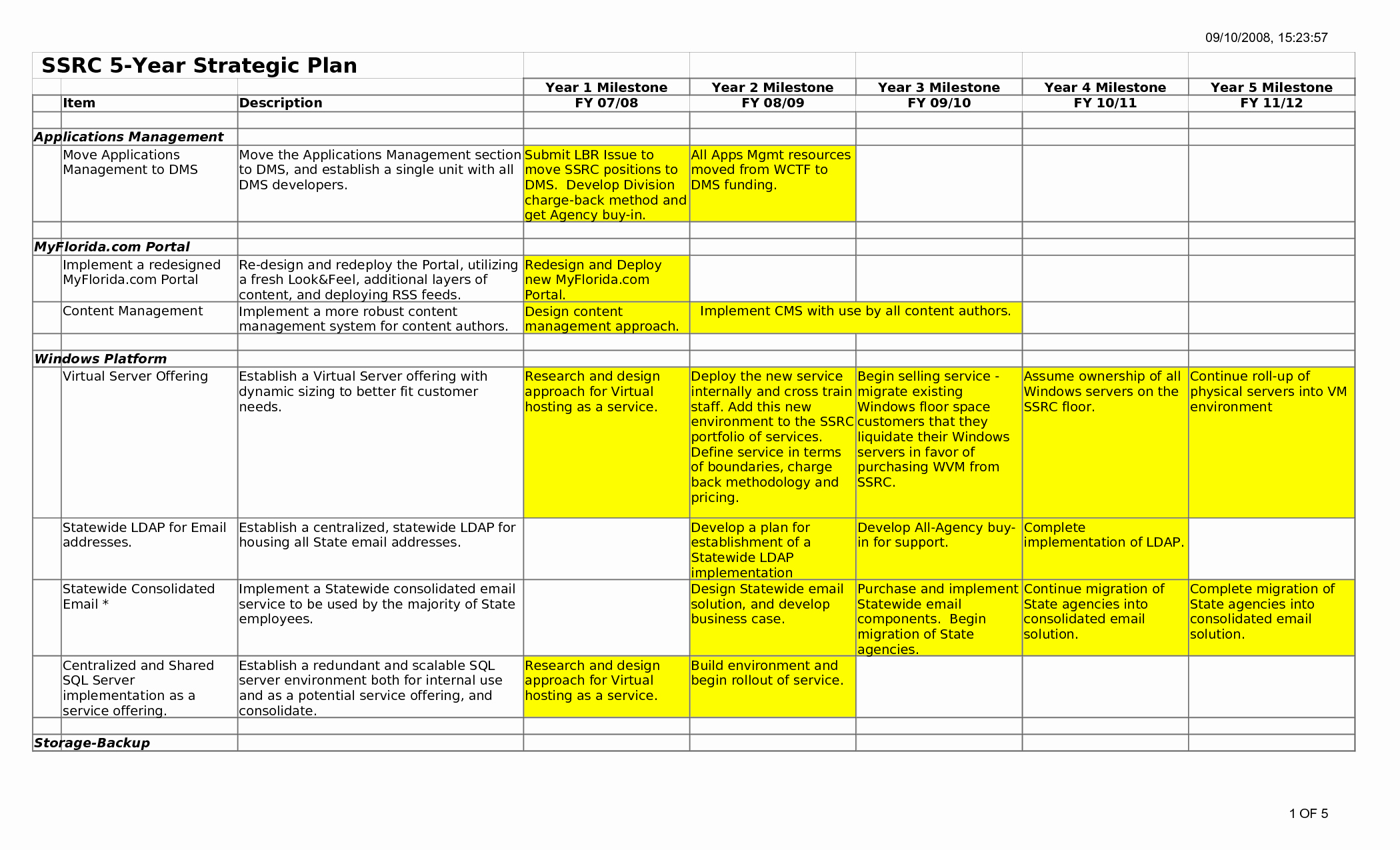 Strategic Business Plan Template Unique 5 Year Plan Template Beepmunk