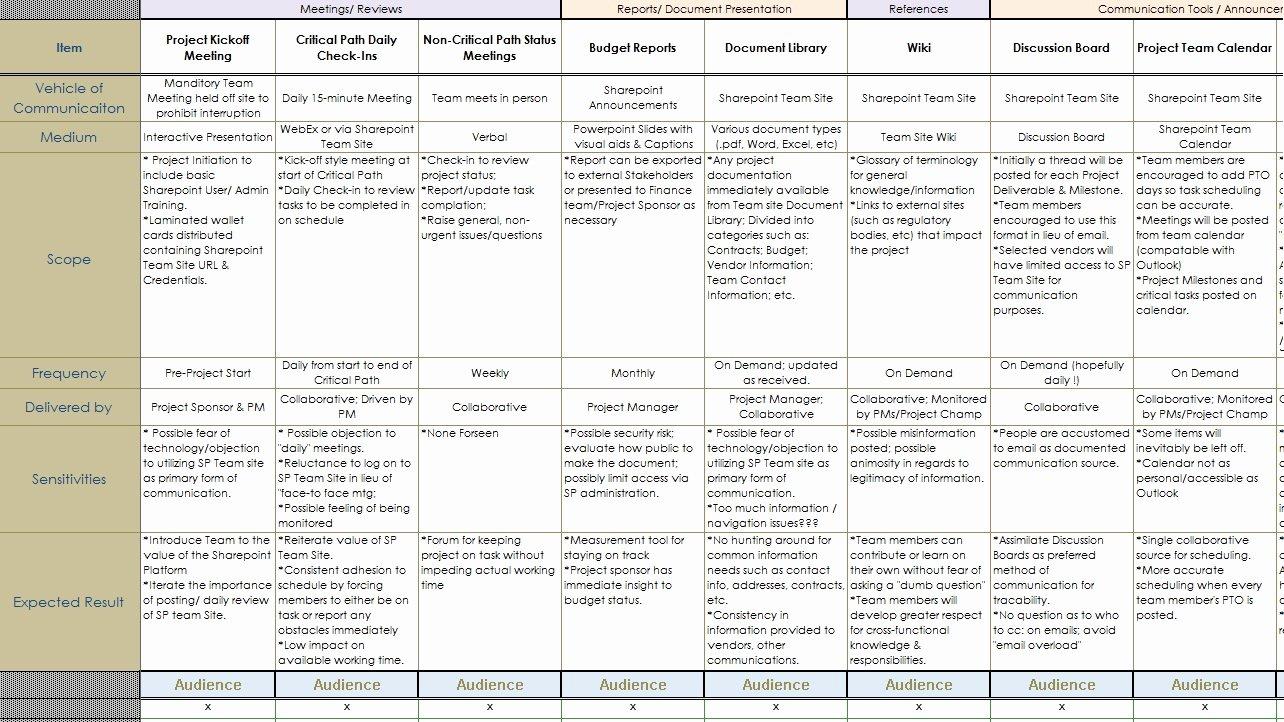 Strategic Communication Plan Template Beautiful Munications Plan Template
