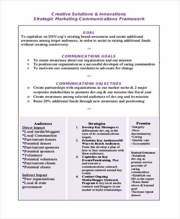 Strategic Communication Plan Template Best Of 44 Strategic Plan Samples