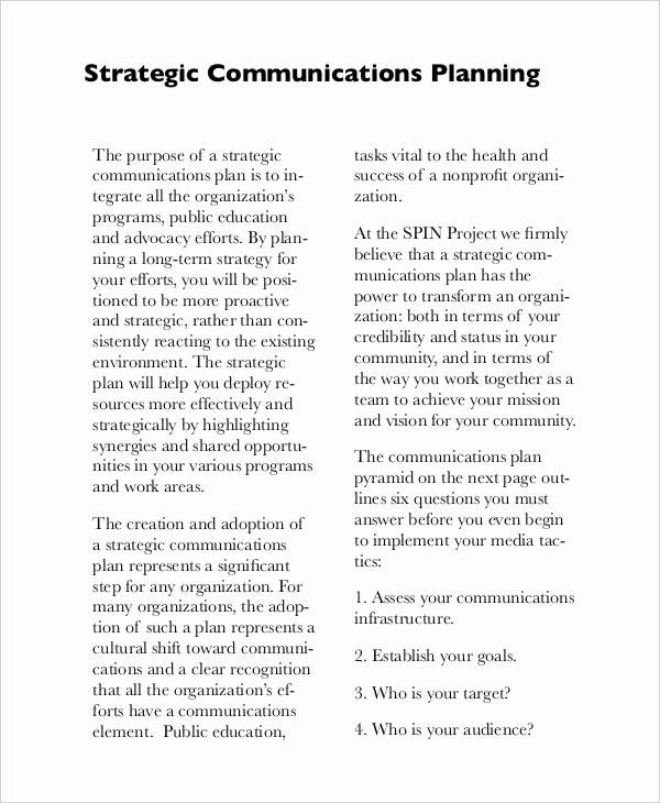 free strategic plan