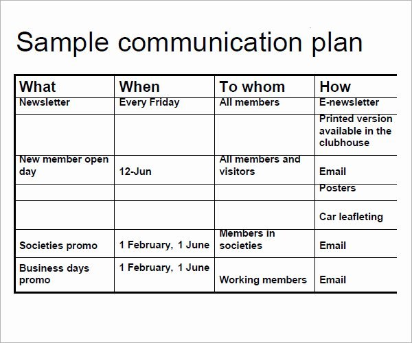 Strategic Communication Plan Template Luxury 16 Samples Of Munication Plan Templates Pdf Word