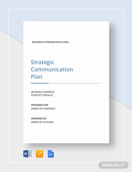 Strategic Communication Plan Template New Simple Strategic Munication Plan Template Download 328
