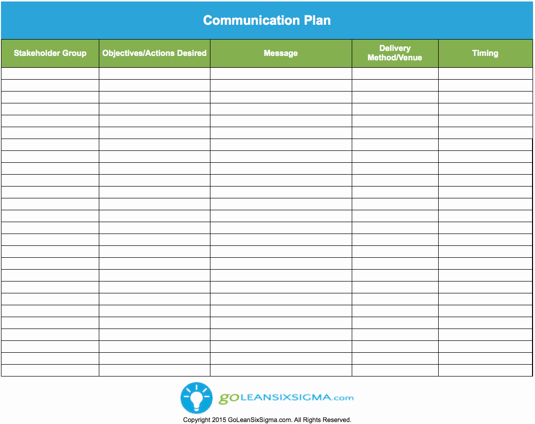 Strategic Communications Plan Template Inspirational Internal Munication Plan Template Excel with Example