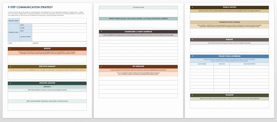 Strategic Communications Plan Template Lovely Free Munication Strategy Templates and Samples